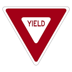 R1-2 Yield aluminum traffic sign